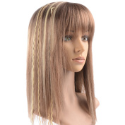 Namecute Fashion Medium Straight Wigs Synthetic Ombre Blonde Mixed Colours Wig for Women+Free Wig Cap