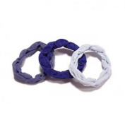 Set of 3 elastic Textile Blue - Made in Europe