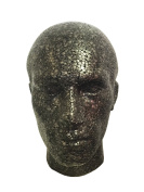POLYSTYRENE BLACK MALE DISPLAY HEAD MANNEQUIN FOR WIG by Jinny's Beauty