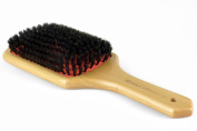100% Natural Boar Bristle Hair Styling Brush, Wood Handle Porcupine Paddle Brush