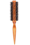Styling Essentials Natural Boar Bristles Brush With Pin Tail, Round Hair Comb Twill 5.1cm