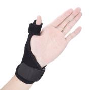 Veewon Thumb Brace Stabiliser Thumb Splint with Adjustable Spica Support Wrist Strap Guard - Left