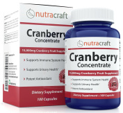 Triple Strength Cranberry Extract Supplement For Bladder & Urinary Tract Support - Extract Equal to 15,000 mg of Fresh Cranberries + Polyphenols per Capsule - 100 Capsules per Bottle