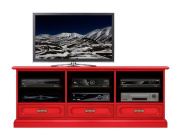 "Flaming red TV cabinet tris ""Red klass"" + BEESWAX FOR FREE"