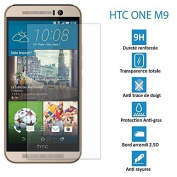 GENUINE HTC ONE M9 - ultra sturdy Tempered Glass Protection Screen