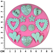 Vintage Victorian Wedding Hearts Silicone Mould Mould for Cake Decorating Cake Cupcake Toppers Icing Sugarcraft Tool by Fairie Blessings