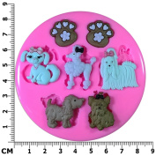 Pampered Puppies Poodle Parlour Silicone Mould Mould for Cake Decorating Cake Cupcake Toppers Icing Sugarcraft Tool by Fairie Blessings