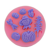 Clest F & H Cute DIY Little Pumpkin Cake Chocolate Silicone Moulds Fondant Jelly Jello Ice Sugar Soap Moulds Sugarcraft Cake Tools