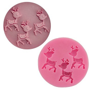 Clest F & H DIY Animal Fawn Deer Shape Food-grade 3D Silicone Cake Mould Soap Chocolate Mould Kitchen Baking Clay mould