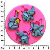 Cute Elephant Elefun Nelly Trunk Silicone Mould Mould for Cake Decorating Cake Cupcake Toppers Icing Sugarcraft Tool by Fairie Blessings