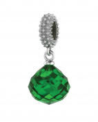 Endless Jewellery Women's Emerald Mysterious Drop Charm