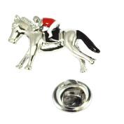 Horse & Jockey Lapel Pin Badge