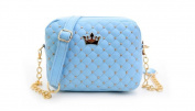 Classic Design Rivet Chain Messenger Bag - Blue