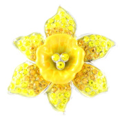 Angelys Marie Curie Fund Large Daffodil Diamante Brooch
