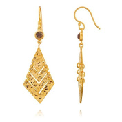Athena Gold Plated 'Wave' Earirng with stone-Labradorite