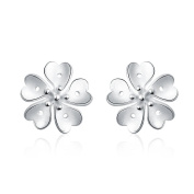 Earring Women & Girls Jewellery Silver 925 PLATED Earring Perfect Fashion Gift for any Occasion Love Gift with Flower Stud Style