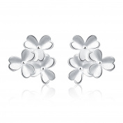 Edmond Earring Women & Girls Jewellery Silver 925 PLATED Earring Perfect Fashion Gift for any Occasion Love Gift with Flower Stud Style