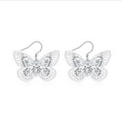 Edmond Earring Women & Girls Jewellery Silver 925 PLATED Earring Perfect Fashion Gift for any Occasion Love Gift with Butterfly Style