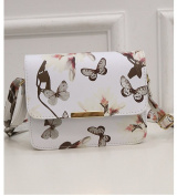 Lady's Shoulder Bag with Butterfly Print