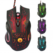 LED Optical 6D USB Wired Gaming Game Mouse - Red