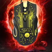LED Optical 6D USB Wired Gaming Game Mouse - Yellow