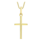 Carissima Gold 9ct Yellow Gold Small Cross Pendant Necklace of 45.72cm