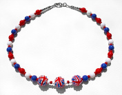 Fly The Flag Costume Fashion 44 cm Bead Necklace.