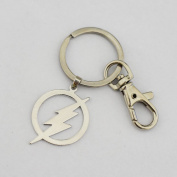 THE Flash Stainless Steel Pendant Keychain the Flash Key Ring