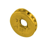 Packet of 50+ Antique Gold Tibetan 2 x 8mm Donut Spacer Beads - (HA15585) - Charming Beads