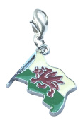 Welsh Flag / Wales Flag / Y Ddraig Goch / The Red Dragon Clip On Charm with Gift Box by Libby's Market Place