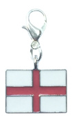 England Flag / St George's Cross / English Flag Clip on Charm with Velvet Gift Bag Handmade by Libby's Market Place