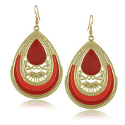 Butterme 2016 New Italianate European Style Hollow Out Vintage Waterdrop Pendant Earrings for Casual Formal Occasion Daily Wear