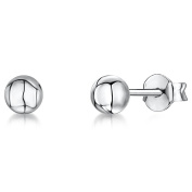 JOOLS by Jenny Brown ®4mm Silver Ball Stud Earrings