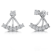 JOOLS by Jenny Brown ®Earrings Featuring Brilliant Cut Cz With A 6 Underlobe Setting