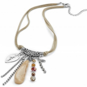 Charm Necklace pendant on cord N123 41cm alloy