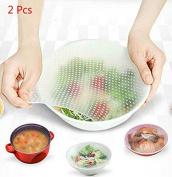 Yalulu 3Pcs New Silicone Wrap Seal Vacuum Food Magic Wrap Multifunctional Cling Film Food Fresh Kitchen Tool