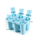 Clode® 1Set 6 Cell Pop Popsicle Maker Lolly Mould Tray Kitchen Frozen Ice Cream DIY Mould