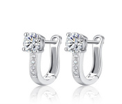 Wiftly Earring Clip On Fashion with Zirconia for Women Girls