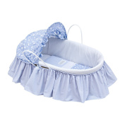 Cambrass Moses Basket with Frills and Hood