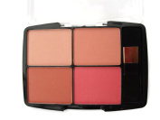 BODY COLLECTION 4 IN 1 QUAD POWDER BLUSHER COMPACT DUSTY PINK