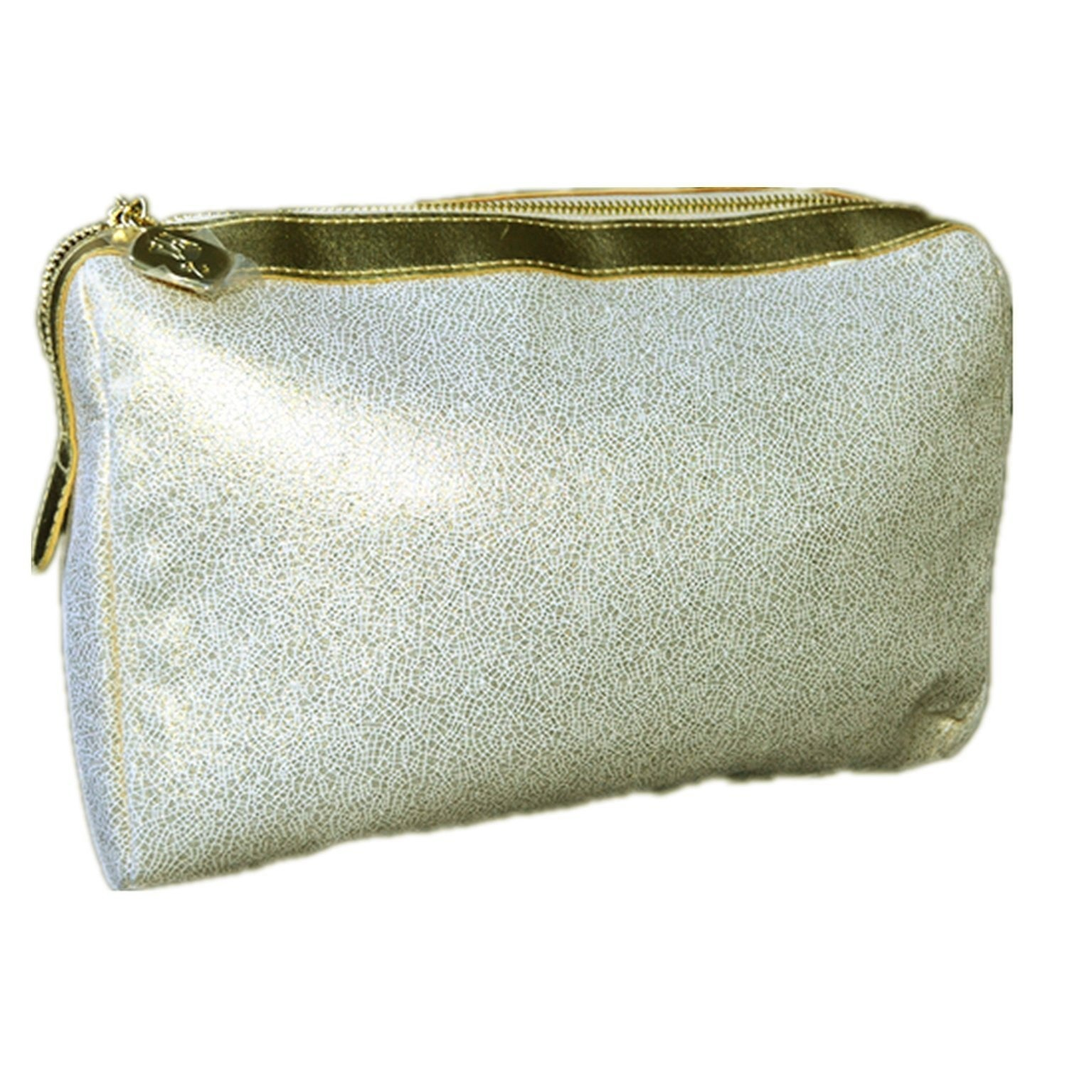 21457ca7e2f5 Lancome Luxury Golden-White Faux Leather Cosmetic Bag / Make-up Pouch /  Toiletry Bag / Wash Bag Travel Accessory 25*18*8.5cm