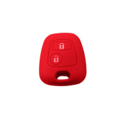 Muchkey Silicone Key Case Cover Skin Jacket fit for PEUGEOT CITROEN 2 Button Remote Key 1pc
