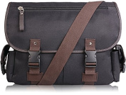 AB Earth Vintage Leather Canvas Nylon School bag Messenger Bag Briefcase, M707