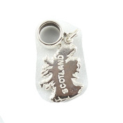 Sterling Silver Map Of Scotland Dangle Bead Charm To Fit European Style Charm Bracelets