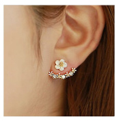 SwirlColor New Style Small Cute Daisy Flowers Stud Earrings For Women Jewellery Accessories