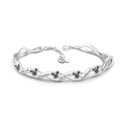 Disney 'Magical Wishes' Crystal and Engraved Charm Bracelet By The Bradford Exchange