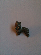 D6 Yorkshire Terrier pin badge fine english pewter pin badge with a prideindetails gift package