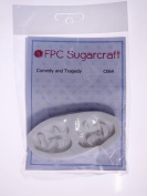 Comedy and Tragedy Masks - Silicone Icing Mould for Cake and Cupcake Decoration by FPC