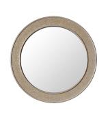 Round Mosaic Champagne Gold Wall Mirror - Large - 60 cm diameter - Bathroom Lounge Hallway