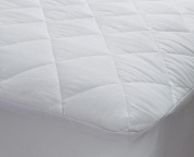Homefurnishing 1.2m Three Quarter Quilted Mattress Protector Small Double Bed Polycotton Fitted Cover 1.2m
